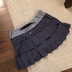 Lululemon Pace Setter Skirt Dark Grey Size 6